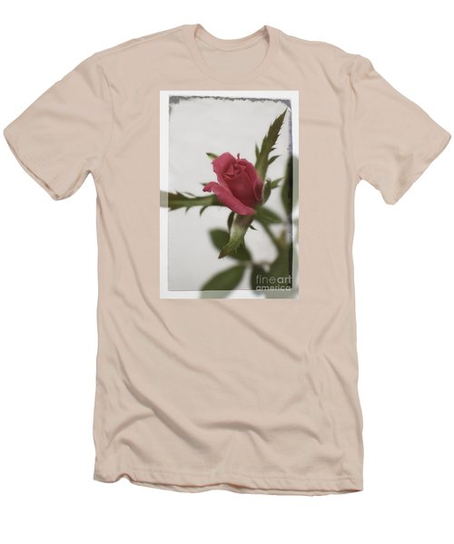 Men's T-Shirt (Slim Fit) featuring the photograph Vintage Antique Rose by Ella Kaye Dickey