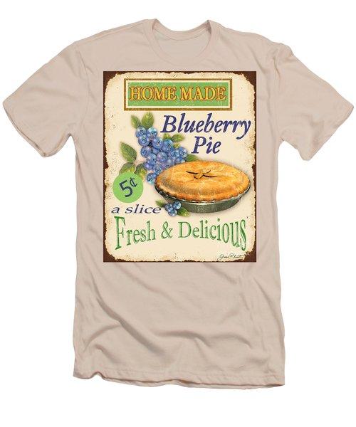 Vintage Blueberry Pie Sign Men's T-Shirt (Slim Fit) by Jean Plout