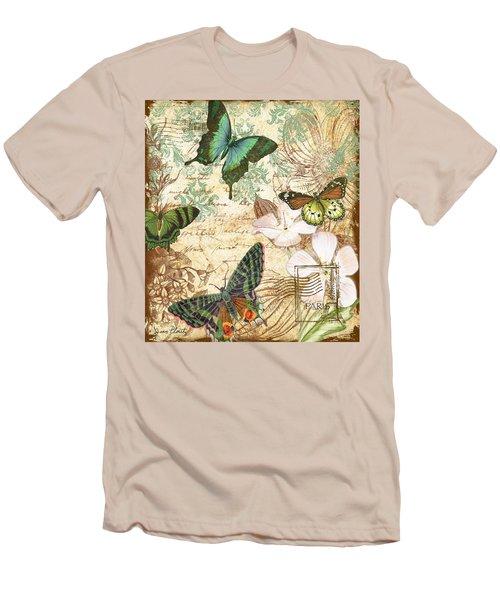 Vintage Butterfly Kisses  Men's T-Shirt (Athletic Fit)