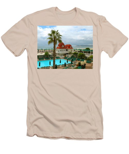 Vintage Cabana At The Del Men's T-Shirt (Slim Fit) by Connie Fox