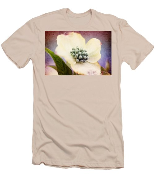 Men's T-Shirt (Slim Fit) featuring the photograph Vintage Dogwood Blossom by Trina  Ansel