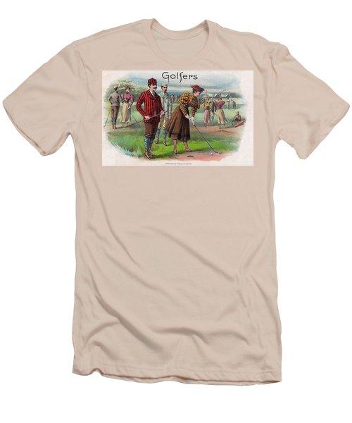 Men's T-Shirt (Slim Fit) featuring the digital art Vintage Golfers by Maciek Froncisz