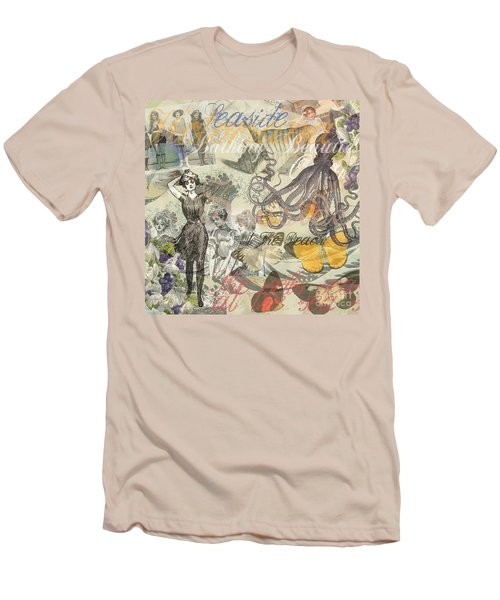 Vintage Octopus And Bathing Beauties Men's T-Shirt (Athletic Fit)