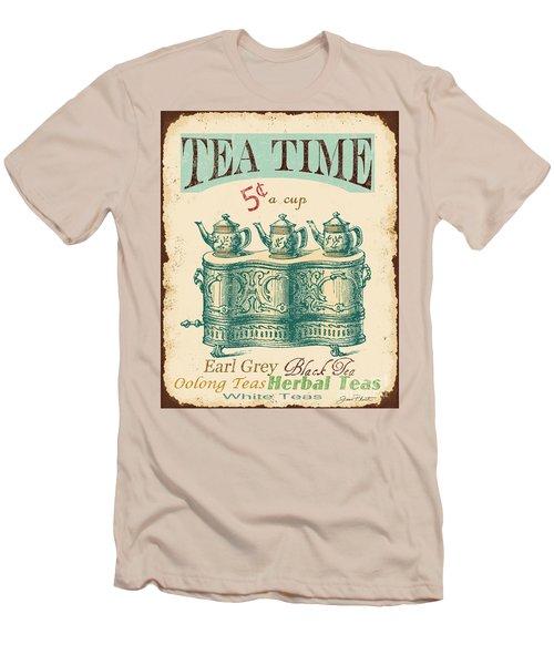 Vintage Tea Time Sign Men's T-Shirt (Slim Fit) by Jean Plout
