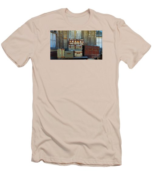 Vintage Trunks   Sold Men's T-Shirt (Slim Fit) by Marcia Lee Jones