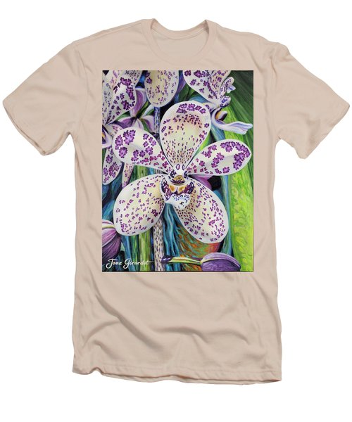 Violet Dotted Orchid Men's T-Shirt (Athletic Fit)