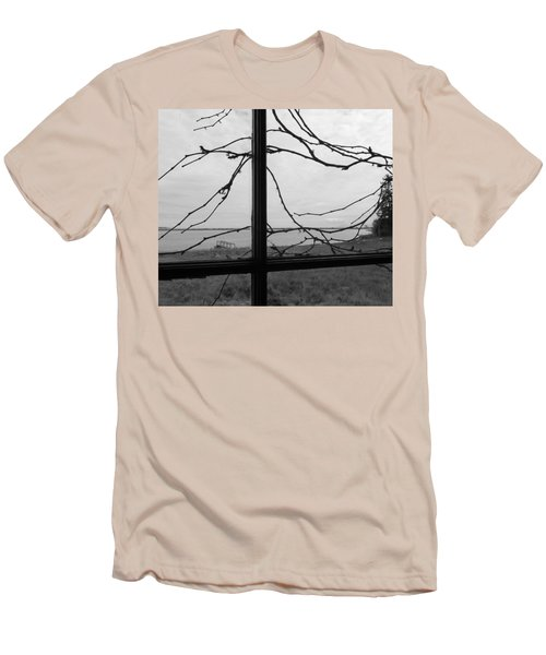 Men's T-Shirt (Slim Fit) featuring the photograph Virginia Creeper  by Cheryl Hoyle