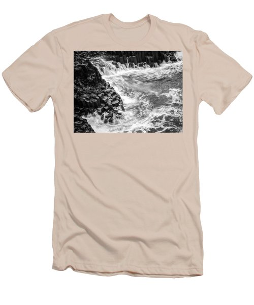 Volcanic Rocks And Water Men's T-Shirt (Athletic Fit)