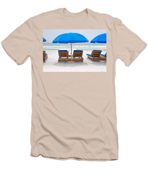Panama City Beach Florida Empty Chairs Men's T-Shirt (Athletic Fit)