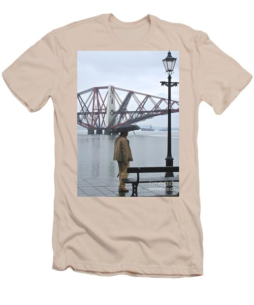Men's T-Shirt (Slim Fit) featuring the photograph Waiting On High Street by Suzanne Oesterling