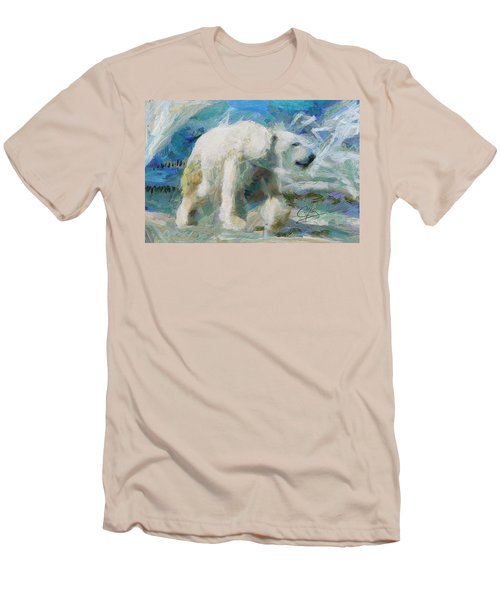 Men's T-Shirt (Slim Fit) featuring the painting Cold As Ice by Greg Collins