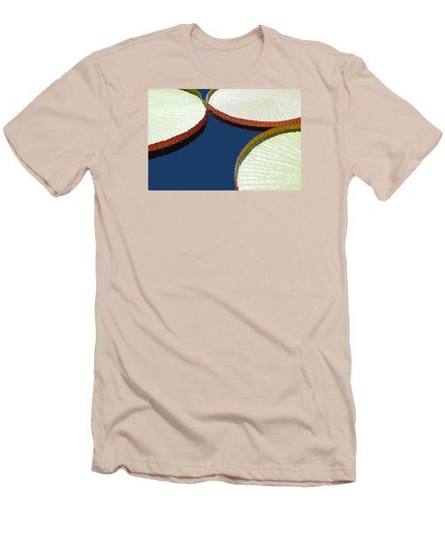 Water Lilly Platters Men's T-Shirt (Slim Fit) by Joseph J Stevens