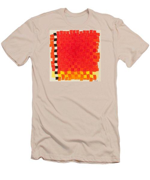 Weave #2 Sunset Weave Men's T-Shirt (Slim Fit) by Thomas Gronowski