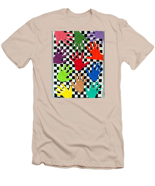 Weave #5 Hands On Men's T-Shirt (Slim Fit) by Thomas Gronowski