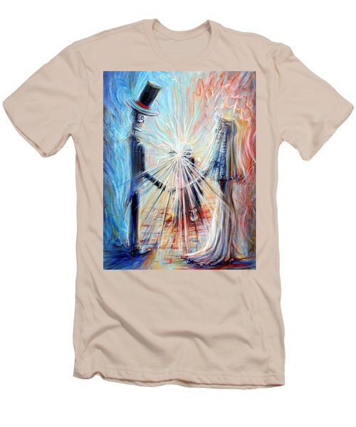 Men's T-Shirt (Slim Fit) featuring the painting Wedding Photographer by Heather Calderon