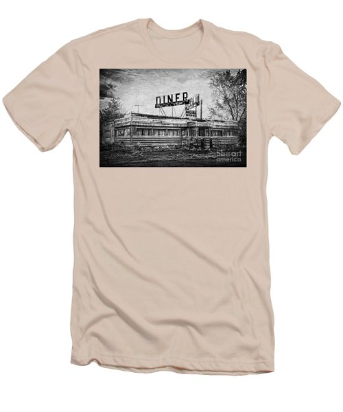 Men's T-Shirt (Slim Fit) featuring the photograph What Is On The Menu by Debra Fedchin