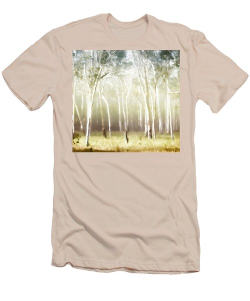Whisper The Trees Men's T-Shirt (Slim Fit) by Holly Kempe