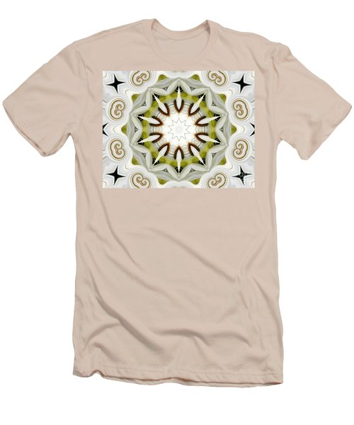 Men's T-Shirt (Slim Fit) featuring the photograph White Daisies Kaleidoscope by Rose Santuci-Sofranko