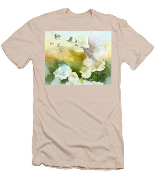 White Doves Men's T-Shirt (Athletic Fit)