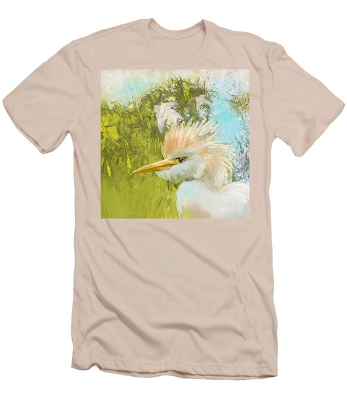 White Kingfisher Men's T-Shirt (Athletic Fit)