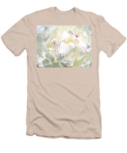 White Peony Men's T-Shirt (Slim Fit)