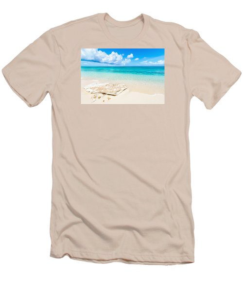 White Sand Men's T-Shirt (Athletic Fit)