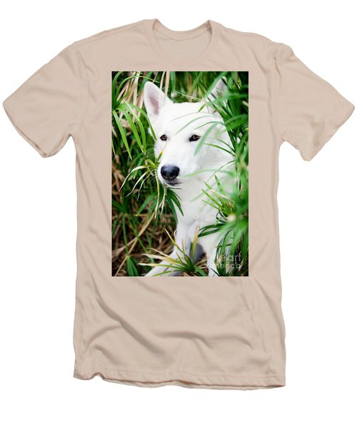 Men's T-Shirt (Slim Fit) featuring the photograph White Wolf by Erika Weber