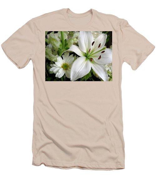 White Wonder Men's T-Shirt (Slim Fit) by Rory Sagner