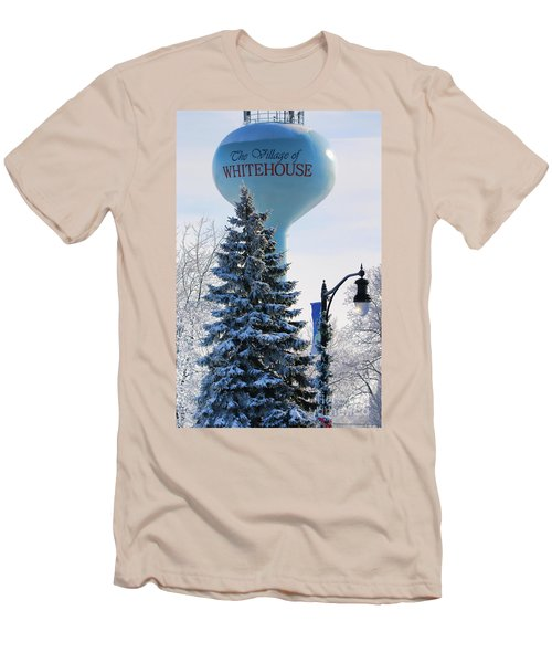 Whitehouse Water Tower  7361 Men's T-Shirt (Slim Fit) by Jack Schultz