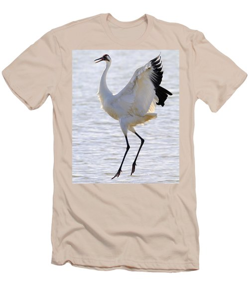 Whooping Crane - Whooping It Up Men's T-Shirt (Athletic Fit)