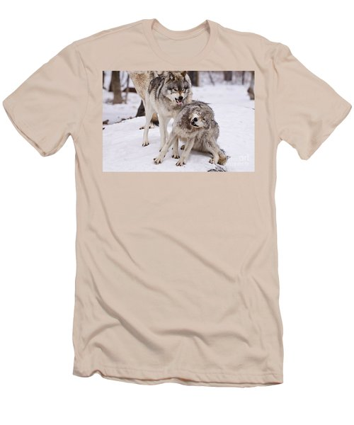 Men's T-Shirt (Slim Fit) featuring the photograph Who's The Boss by Wolves Only