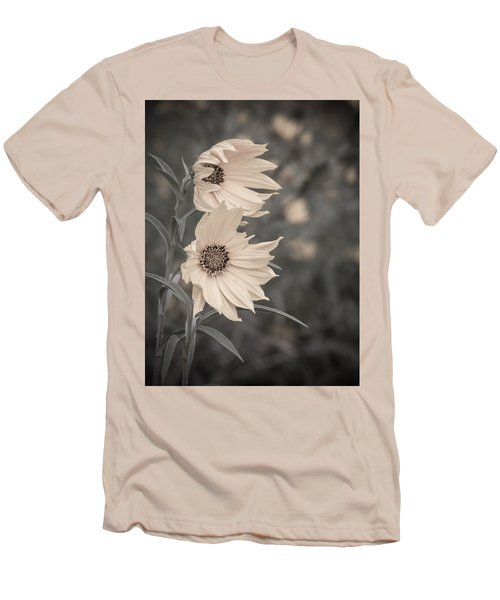 Men's T-Shirt (Slim Fit) featuring the photograph Windblown Wild Sunflowers by Patti Deters