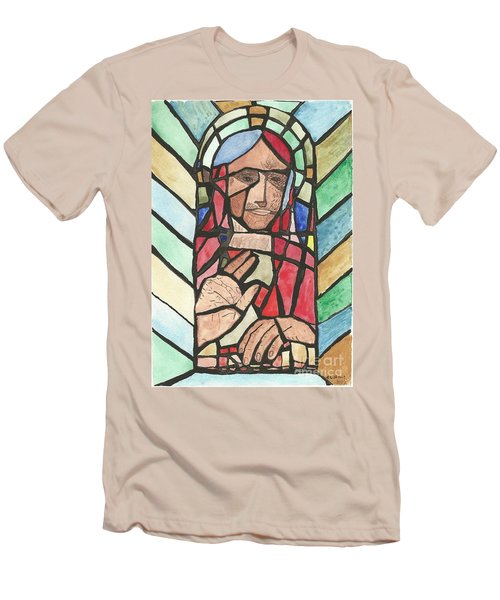 Men's T-Shirt (Slim Fit) featuring the painting Window Of Peace by Tracey Williams