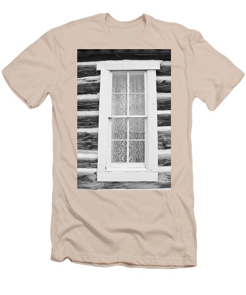 Men's T-Shirt (Slim Fit) featuring the photograph Window To The Old West by Diane Alexander