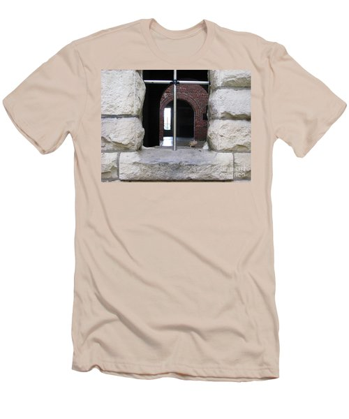 Window Watcher Men's T-Shirt (Slim Fit) by Michael Krek