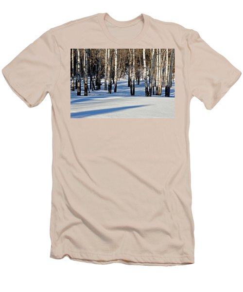 Men's T-Shirt (Slim Fit) featuring the photograph Winter Aspens by Jack Bell