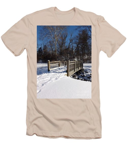 Winter At Creekside Men's T-Shirt (Athletic Fit)