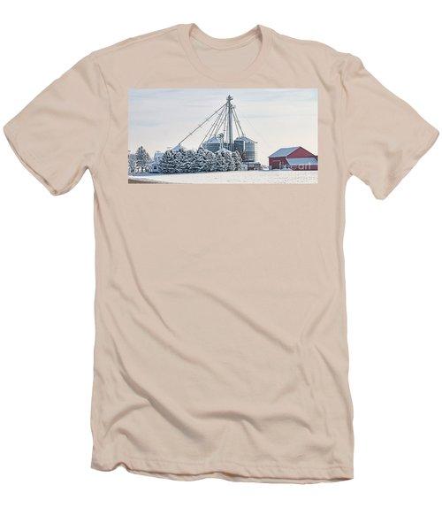 Winter Farm  7365 Men's T-Shirt (Slim Fit) by Jack Schultz