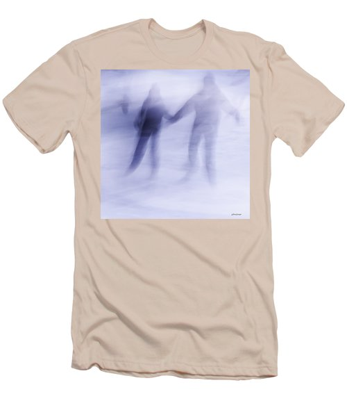 Men's T-Shirt (Slim Fit) featuring the photograph Winter Illusions On Ice - Series 1 by Steven Milner