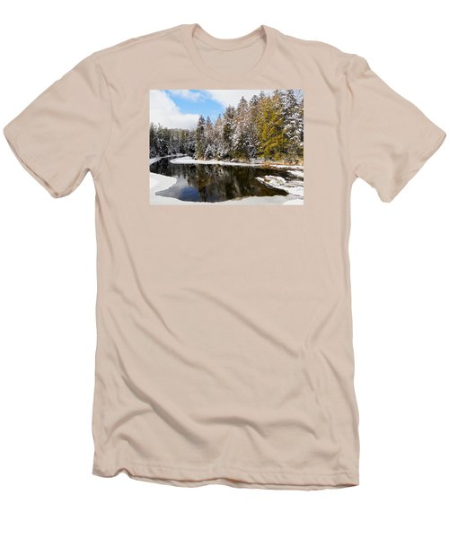 Men's T-Shirt (Slim Fit) featuring the photograph Winter Impressions ... by Juergen Weiss
