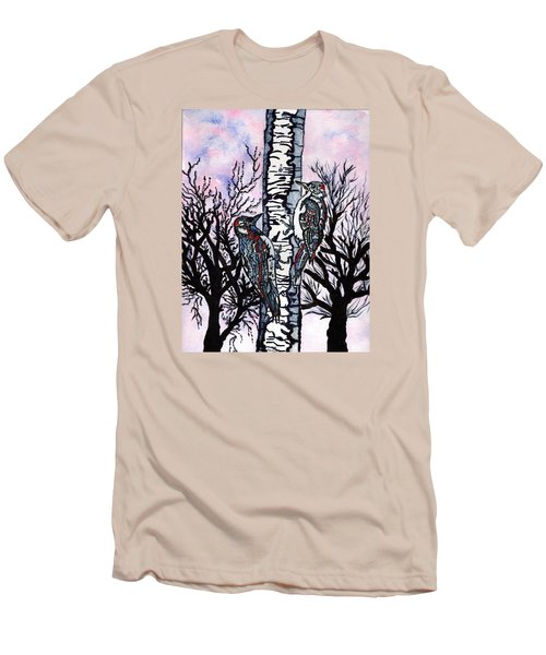 Winter In The Country Men's T-Shirt (Slim Fit) by Connie Valasco