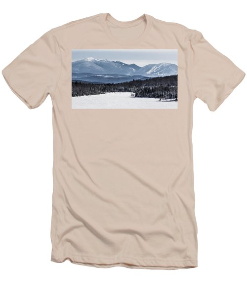 Winter Mountains Men's T-Shirt (Athletic Fit)