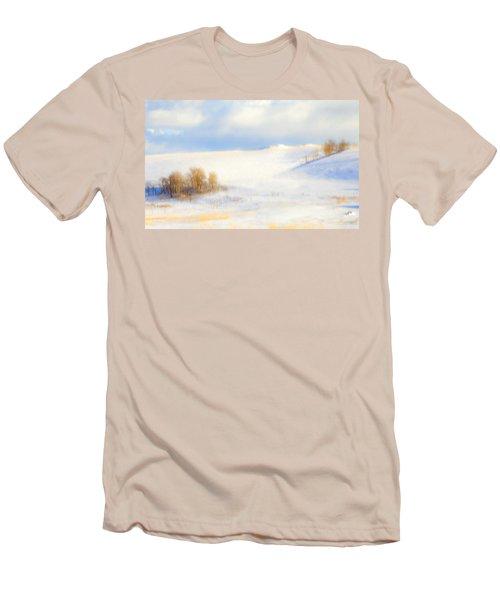 Winter Poplars Men's T-Shirt (Athletic Fit)