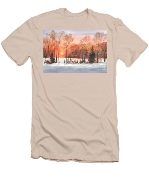 A Hedgerow Sunset Men's T-Shirt (Slim Fit) by Carol Wisniewski
