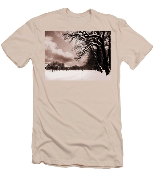 Men's T-Shirt (Slim Fit) featuring the photograph Winter Tale by Nina Ficur Feenan