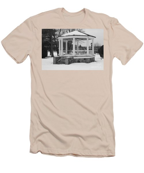 Winter Time Gazebo Men's T-Shirt (Slim Fit) by John Telfer