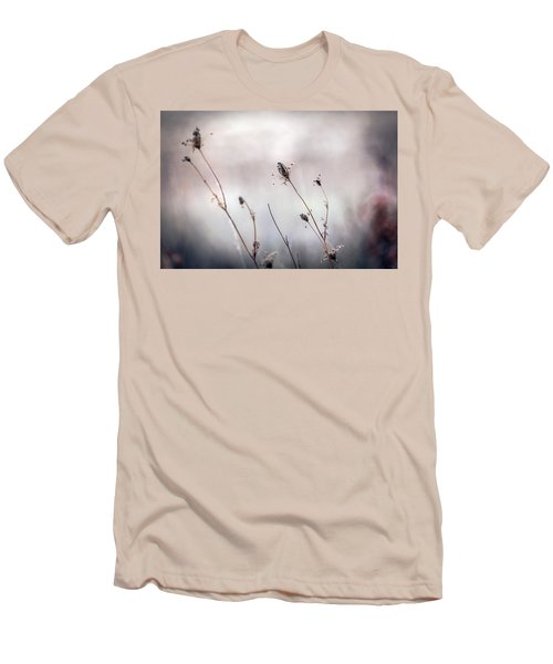 Men's T-Shirt (Slim Fit) featuring the photograph Winter Wild Flowers by Sennie Pierson