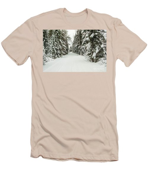 Men's T-Shirt (Slim Fit) featuring the photograph Winter Wonder Land by Patrick Shupert