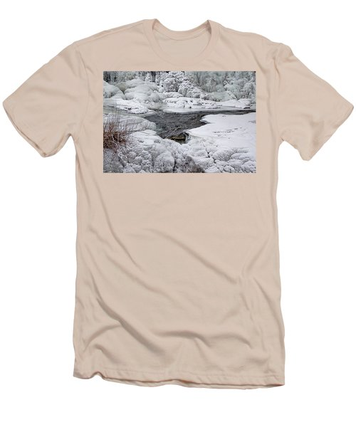 Men's T-Shirt (Slim Fit) featuring the photograph Vermillion Falls Winter Wonderland by Patti Deters