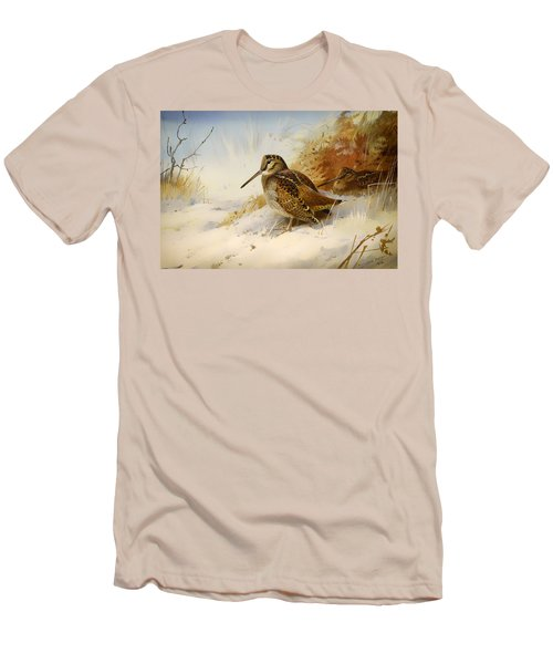 Winter Woodcock Men's T-Shirt (Athletic Fit)